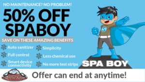50% of spa boy® super special!
